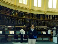 Alfredo Lichter en el Reading Room del British Museum. 2001.